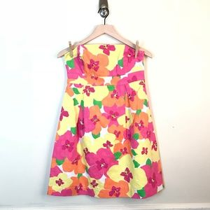 Lilly Pulitzer Betsey Strapless Dress Floral Punch